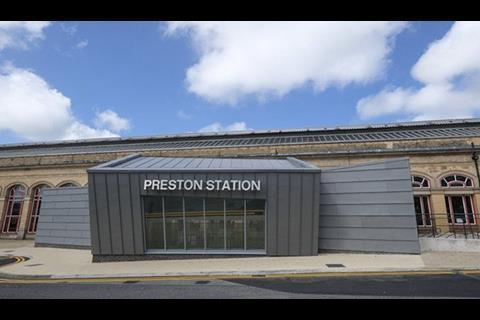Preston Railway Station entrance